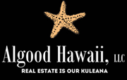 """Logo for Algood Hawaii LLC with slogan """"Real Estate is our Kuleana"""""""