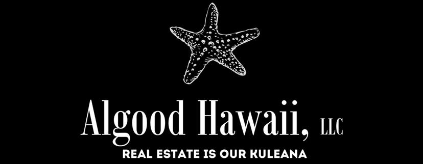 "Logo for Algood Hawaii LLC with slogan ""Real Estate is our Kuleana"""